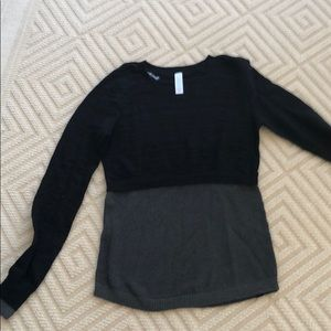Black and Gray ivivva sweater, never worn